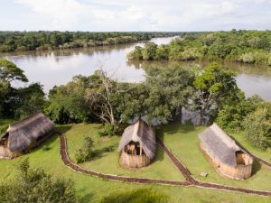All chalets overlook the Kafue River