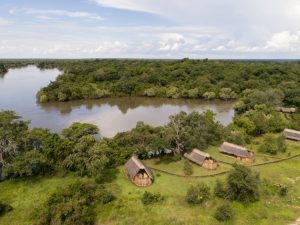 Only 4 thatched chalets housing luxury safari tents
